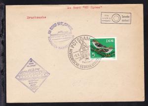 OSt. Potsdam 14.4.73 + 2 Cachets MS Spree auf Brief ohne Anschrift