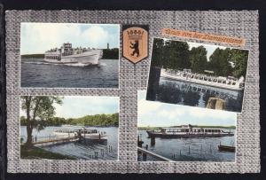 Gruss von der Dampferfahrt (4 Schiffsbilder), Karte senkr. Bug