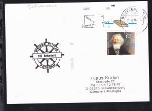 1996 Cachet Weisse Flotte Potsdam Ms Belvedere auf Postkarte