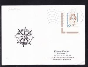1996 Cachet Weisse Flotte Potsdam Ms Berlin auf Postkarte