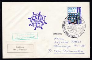 1978 Cachets und Vignette Weisse Flotte Potsdam MS Cecilienhof auf Brief
