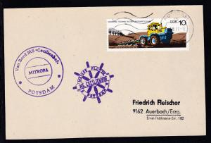 1977 Cachets Weisse Flotte Potsdam MS Cecilienhof auf Postkarte