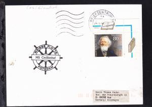 1996 Cachet Weisse Flotte Potsdam MS Cecilienhof auf Postkarte