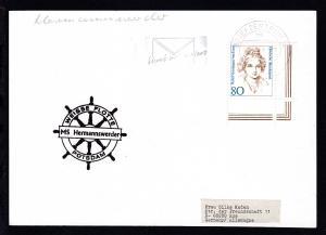 1996 Cachet Weisse Flotte Potsdam MS Hermannswerder auf Postkarte