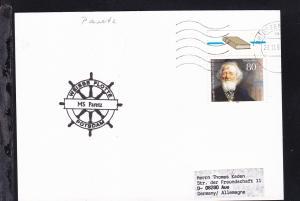 1996 Cachet Weisse Flotte Potsdam MS Paretz auf Postkarte