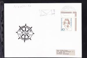1996 Cachet Weisse Flotte Potsdam MS Nedlitz auf Postkarte
