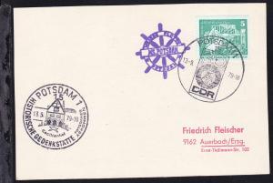 1979 Cachet Weisse Flotte Potsdam MS Potsdam auf Postkarte