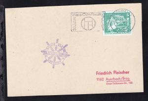 1979 Cachet Weisse Flotte Potsdam MS Seebad Templin auf Postkarte