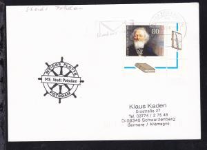 1996 Cachet Weisse Flotte Potsdam MS Stadt Potsdam auf Postkarte