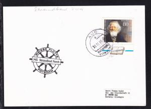1996 Cachet Weisse Flotte Potsdam MS Strandbad Ferch auf Postkarte