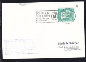 1976 Cachet Weisse Flotte Potsdam MS Werder auf Postkarte