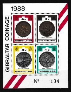 Neue Münzen 1988 Blockausgabe, **