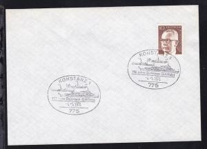 KONSTANZ 1 775 150 Jahre Bodensee-Schiffahrt 4.5.1974 auf Brief ohne Anschrift