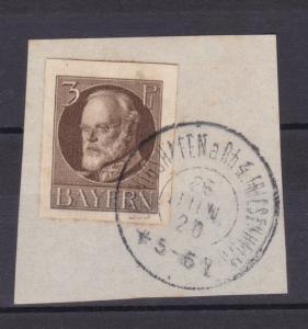 König Ludwig III auf Briefstück mit K2 LUDWIGSHAFEN a RH 4 FRIESENHEIM 26 JUN 20