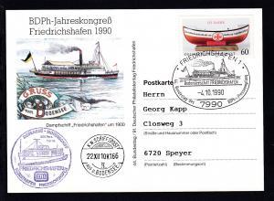 Friedrichshafen Sonderstempel FRIEDRICHSHAFEN 1 7990 Bodenseeschiff