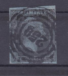 König Friedrich Wilhelm IV. 2 Sgr. mit Nummernstempel 258 (= Cöln)