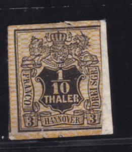 Wappen 1/10 Th., (*), repariert, hoch gepr. Dr. Bri