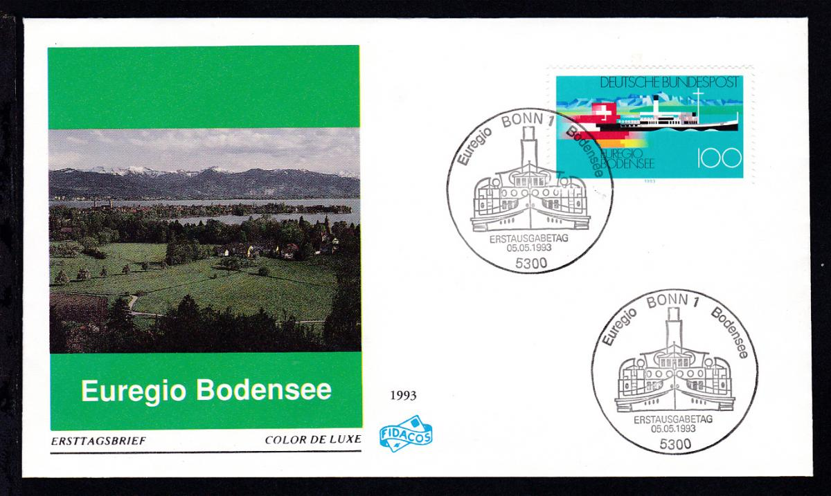 Euregio Bodensee auf FDC ohne Anschrift 0
