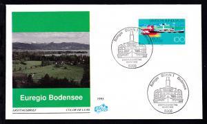 Euregio Bodensee auf FDC ohne Anschrift