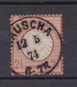 Adler mit großem Schild 2½ Gr.  mit K1 RAUSCHA 12.5.74