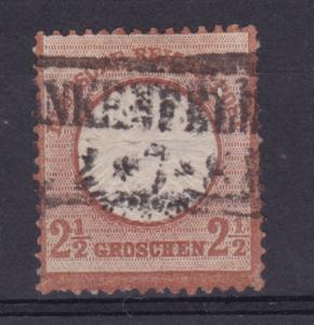 Adler mit großem Schild 2½ Gr.  mit R2 FRANKENFELDE