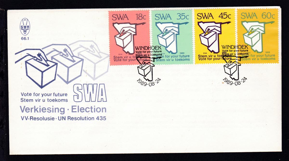 Wahlen vom 1. November auf FDC ohne Anschrift 0