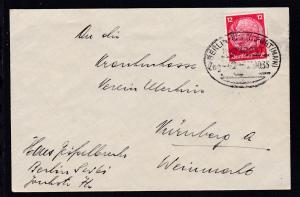 BERLIN-FRANKFURT (MAIN) Zug 2 20.10.35 auf Brief