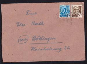 FREIBURG-BASEL BAHNPOST ZUG 891 ?.10.48 auf Brief