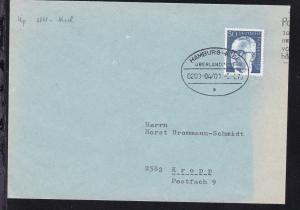 HAMBURG-KIEL ÜBERLANDPOST a 0200-04/01 5.2.76 auf Brief