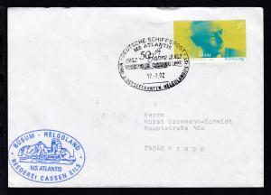 DEUTSCHE SCHIFFSPOST MS ATLANTIS 1952 2002 50 Jahre REEDEREI CASSEN EILS NORD-