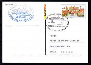 DEUTSCHE SCHIFFSPOST MS ATLANTIS REEDEREI CASSEN EILS NORD- U. OSTSEEFAHRTEN-