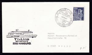 DEUTSCHE SCHIFFSPOST TRAVEMÜNDE-TRELLEBORG MS PETER PAN 25 JAHRE TT-LINE