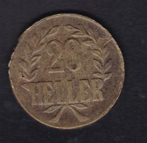 Deutsch-Ostafrika Tabora 1916 schmale Krone Messing, S