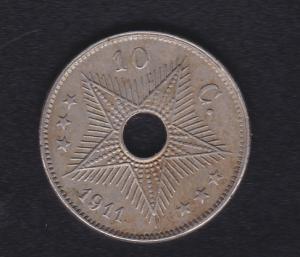 Belgisch-Kongo 10 Centimes 1911, SS