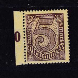 Ziffer 5 M Randstück, Farbe b, **, gepr. Infla Berlin