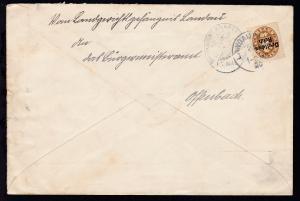 Abschiedsausgabe 40 Pfg. auf Brief des Landgerichtsgefängnis Landau ab Landau