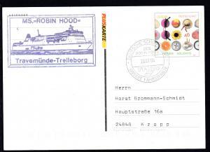 DEUTSCHE SCHIFFSPOST DES ROBIN HOOD TT-Line OSTSEE-FÄHRDIENSTE 28.07.04 +