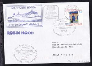 DEUTSCHE SCHIFFSPOST TT-Line DES Robin Hood TRAVEMÜNDE-TRELLEBORG 18.7.03 +