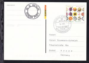 DEUTSCHE SCHIFFSPOST MS BERLIN PETER DEIMANN REEDEREI WESTEUROPAFAHRT 14.9.04 +