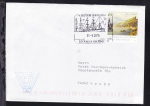 DEUTSCHE SCHIFFSPOST auf der Elbe RICKMER RICKMERS 01.9.2006 auf Brief