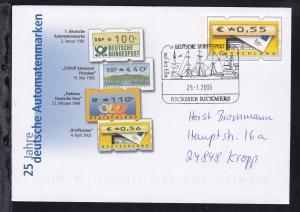 DEUTSCHE SCHIFFSPOST auf der Elbe RICKMER RICKMERS 29.1.06 auf Ganzsache