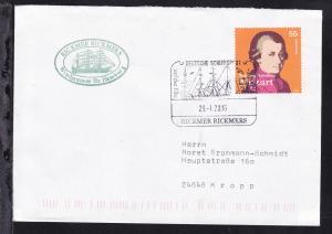 DEUTSCHE SCHIFFSPOST auf der Elbe RICKMER RICKMERS 29.1.2006 + Cachet auf Brief