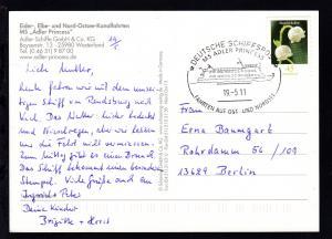 DEUTSCHE SCHIFFSPOST MS ADLER PRINCESS FAHRTEN AUF OST-UND NORDSEE 19.5.11