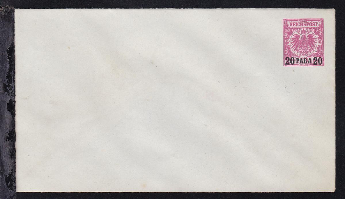 Adler 10 Pfg. mit Aufdruck 20 PARA 20 0