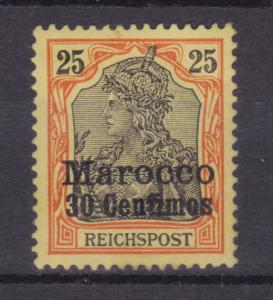 Germania 25 Pfg. mit Aufdruck Marocco 30 Centimes, **