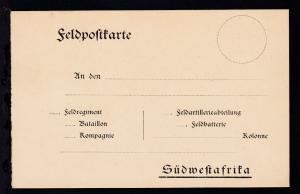 ungebrauchte Feldpost-Vordruck-Karte  (Vogenbeck Nr. 1), Karte rs Vermerke