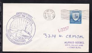 USA Maschinenstempel ARMY & AIR FORCE POSTAL SERVICE APO 864 OCT 24 1960 +