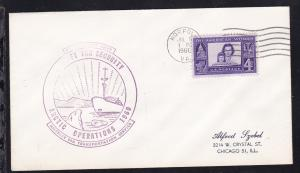 USA Maschinenstempel Norfolk JUL 5 1960 + Cachet Artic Operations 1960 auf Brief