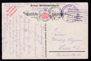 Braunschweig Maschinenstempel BRAUNSCHWEIG *1o 27.8.15 + K1 SOLDATENHEIM