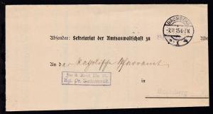 Bromberg OSt. BROMBERG *1m 2.11.15 auf Dienstbrief des Kgl. Pr. Amtsanwalt